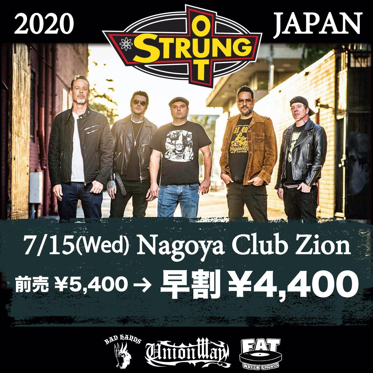 【キャンセル】Club Zion presents STRUNG OUT JAPAN TOUR 2020の写真