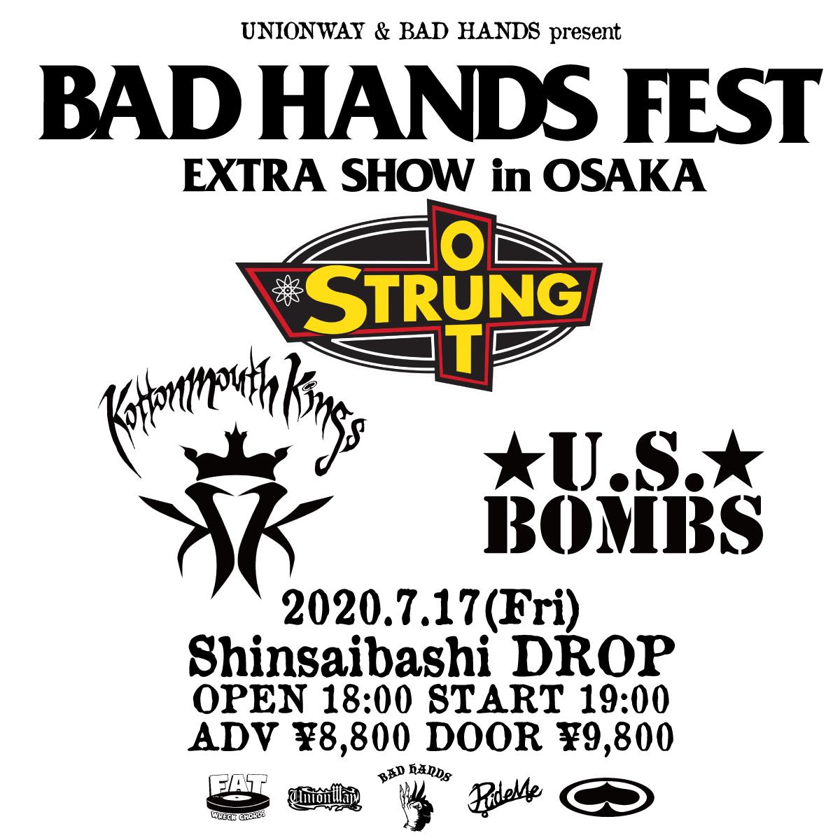 【キャンセル】UNIONWAY & BAD HANDS presents BAD HANDS FEST EXTRA SHOW in OSAKAの写真