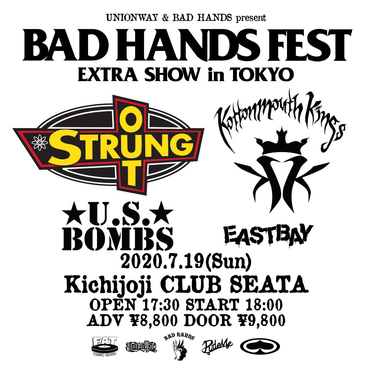 【キャンセル】UNIONWAY & BAD HANDS presents BAD HANDS FEST EXTRA SHOW in TOKYOの写真